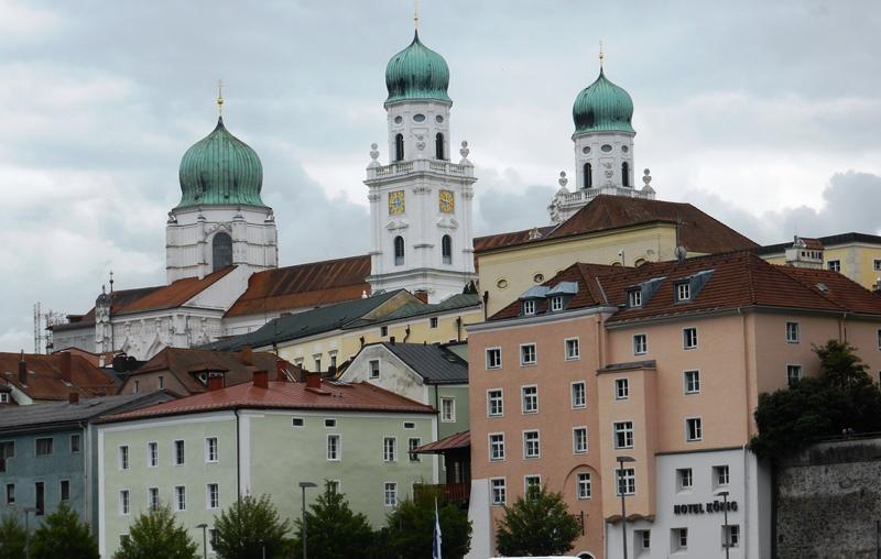 Passau ligt op de grens  met Oostenrijk